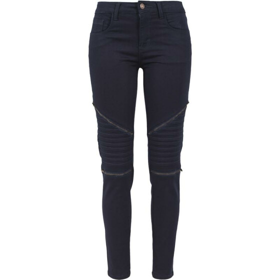 Urban Classics Ladies Stretch Biker Pants, dark denim 27
