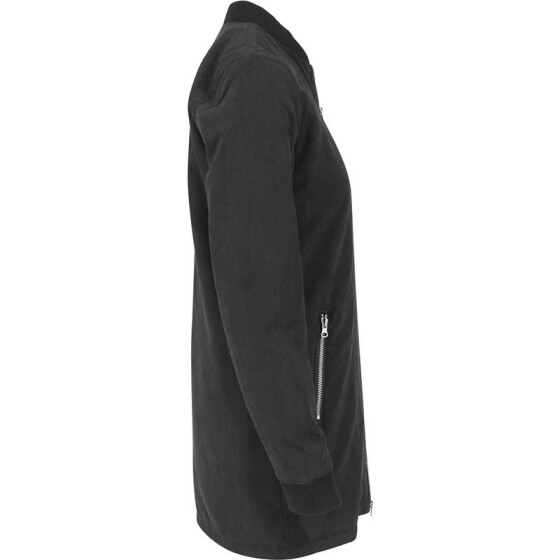 Urban Classics Ladies Peached Long Bomber Jacket, black M