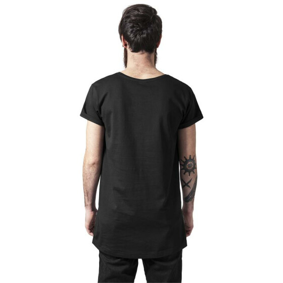 Urban Classics Long Shaped Side Zip Tee, black S