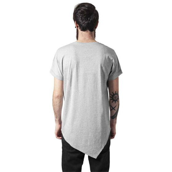Urban Classics Asymetric Long Tee, grey XL