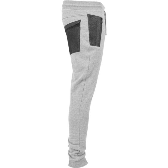 Urban Classics Peached Tech Sweatpants, gry/blk L
