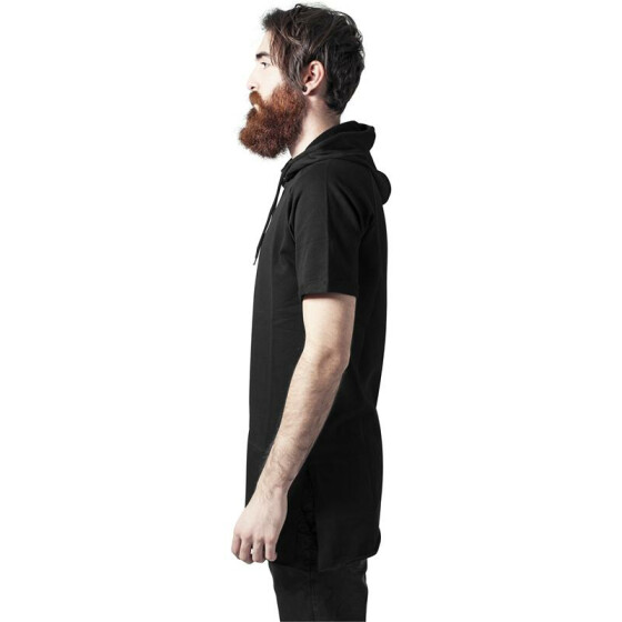Urban Classics Shortsleeve Long Raglan Hoody, black S