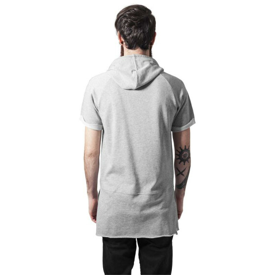 Urban Classics Shortsleeve Long Raglan Hoody, grey XL