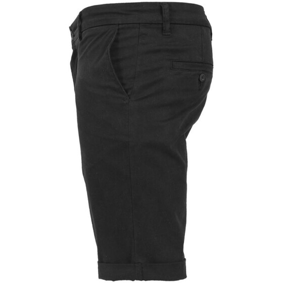 Urban Classics Stretch Turnup Chino Shorts, black 32