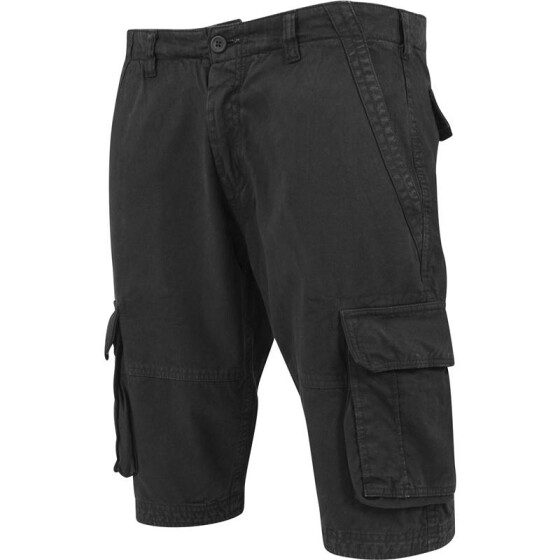 Urban Classics Fitted Cargo Shorts, black 32