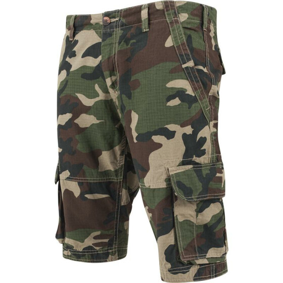 Urban Classics Fitted Cargo Shorts, wood camo 34