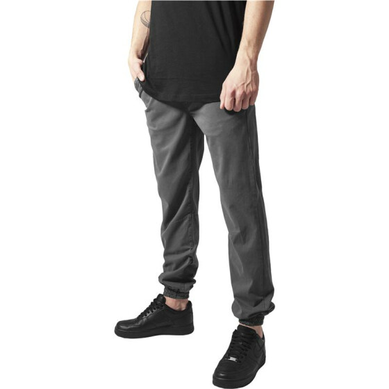Urban Classics Stretch Twill Jogging Pants, darkgrey S