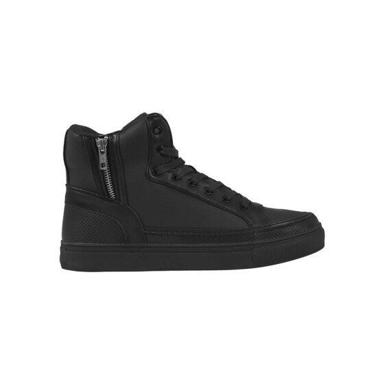 Urban Classics Zipper High Top Shoe, black 40