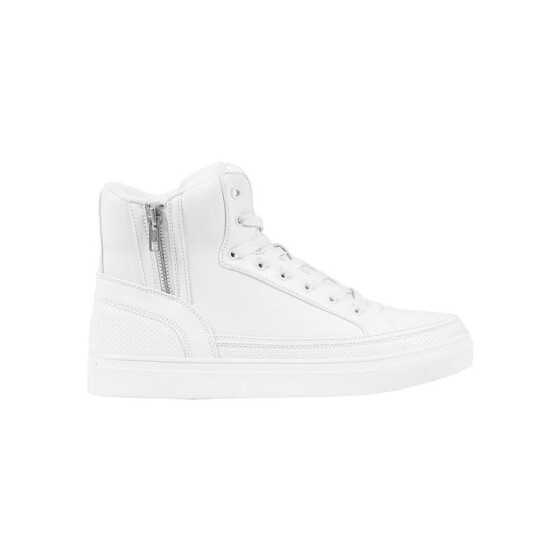 Urban Classics Zipper High Top Shoe, white 42