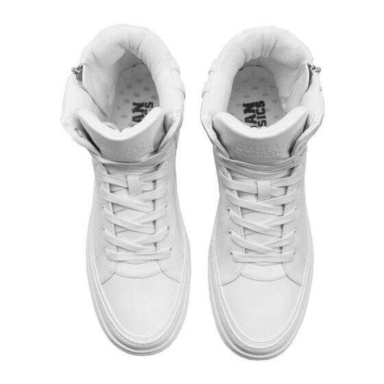 Urban Classics Zipper High Top Shoe, white 43