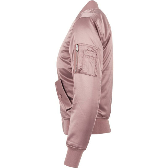 Urban Classics Ladies Satin Bomber Jacket, oldrose S