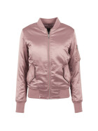Urban Classics Ladies Satin Bomber Jacket, oldrose XL