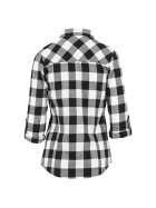 Urban Classics Ladies Turnup Checked Flanell Shirt, blk/wht L