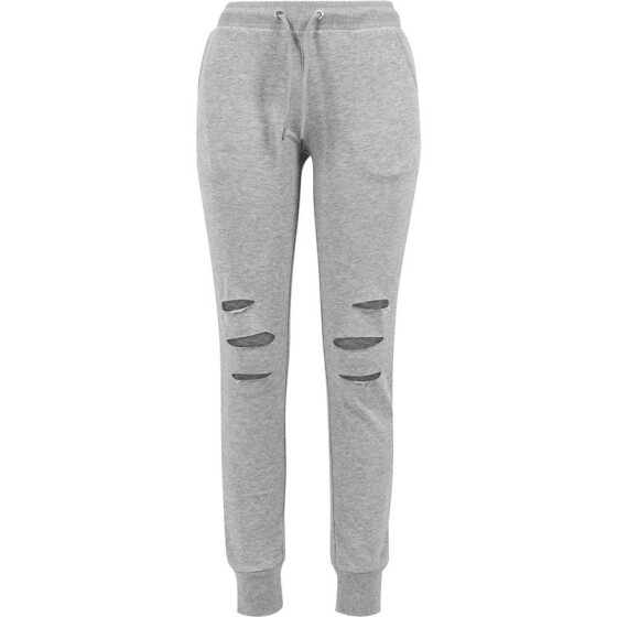 Urban Classics Ladies Cutted Terry Pants, grey S