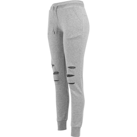 Urban Classics Ladies Cutted Terry Pants, grey M