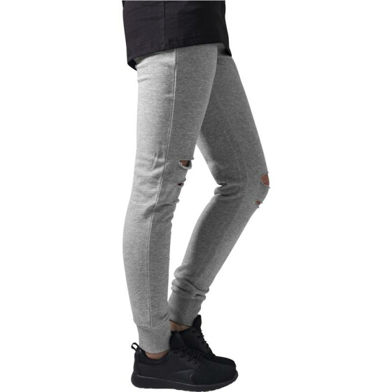 Urban Classics Ladies Cutted Terry Pants, grey L