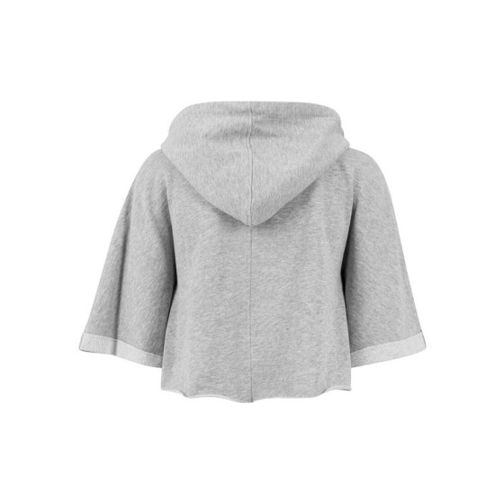 Urban Classics Ladies Cropped Hooded Poncho, grey XS