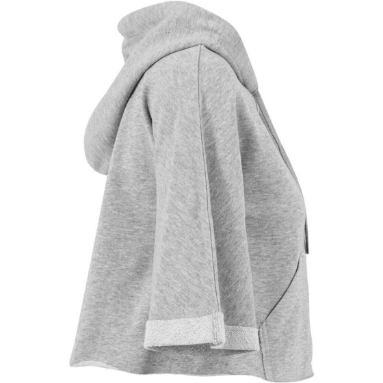 Urban Classics Ladies Cropped Hooded Poncho, grey S