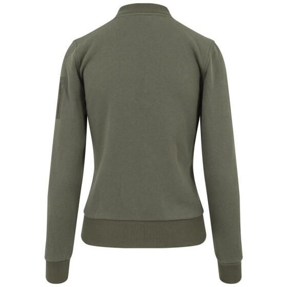 Urban Classics Ladies Sweat Bomber Jacket, olive S