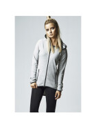Urban Classics Ladies Athletic Interlock Zip Hoody, grey XS