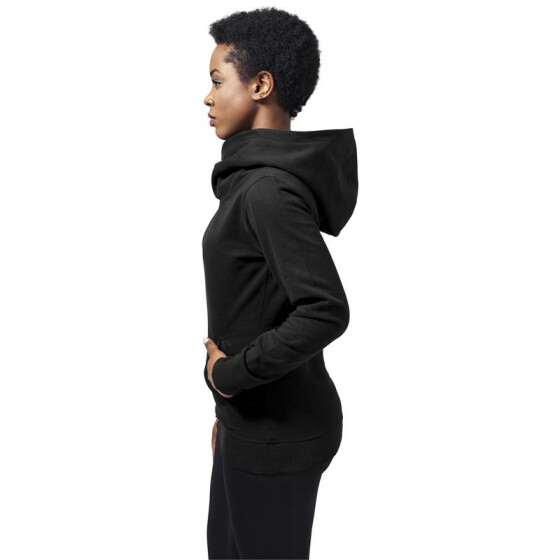 Urban Classics Ladies High Neck Hoody, black XS