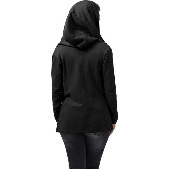 Urban Classics Ladies Hooded Sweat Cardigan, black M