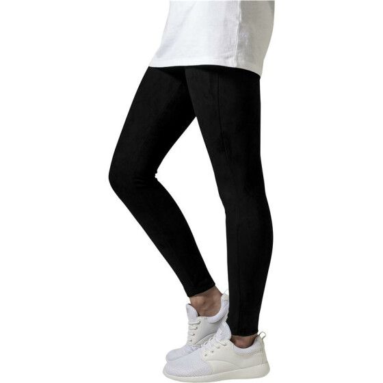 Urban Classics Ladies Imitation Suede Leggings, black M