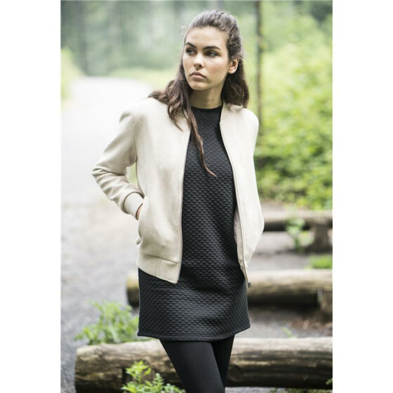 Urban Classics Ladies Imitation Suede Bomber Jacket, sand XS