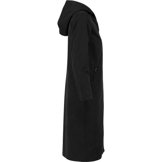 Urban Classics Ladies Peached Long Asymmetric Coat, black XL