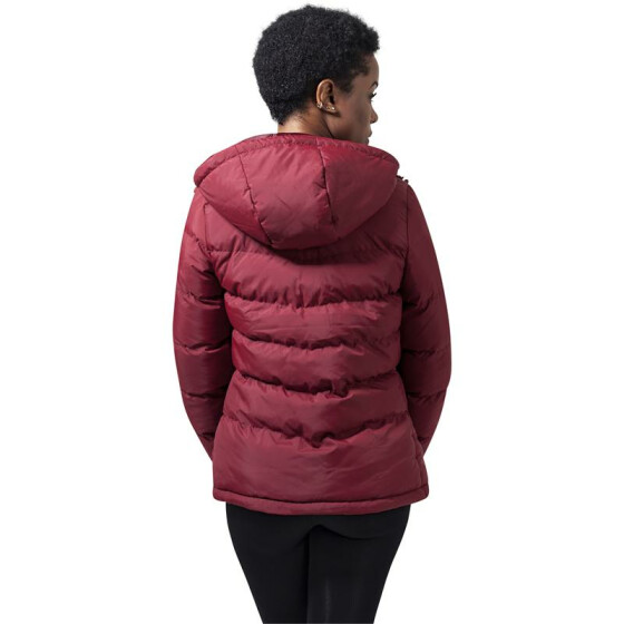 Urban Classics Ladies Bubble Jacket, burgundy XL