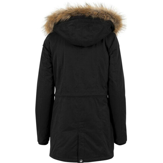 Urban Classics Ladies Sherpa Lined Peached Parka, black S
