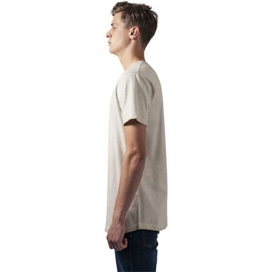 Urban Classics Shaped Long Cold Dye Tee, sand L