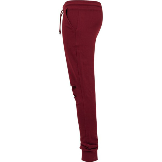 Urban Classics Cutted Terry Pants, burgundy L