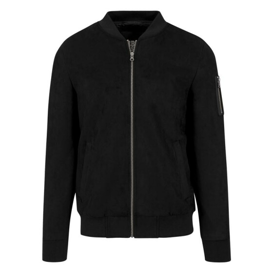 Urban Classics Imitation Suede Bomber Jacket, black XL