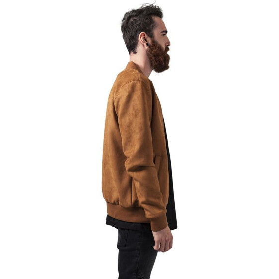 Urban Classics Imitation Suede Bomber Jacket, toffee M