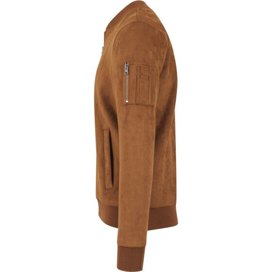 Urban Classics Imitation Suede Bomber Jacket, toffee L