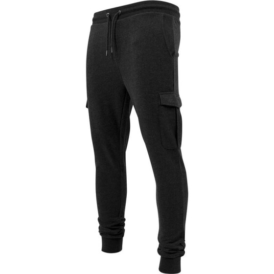 Urban Classics Fitted Cargo Sweatpants, charcoal M