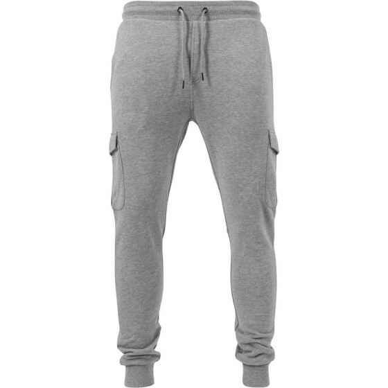 Urban Classics Fitted Cargo Sweatpants, grey XXL