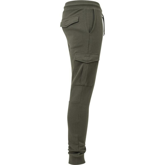 Urban Classics Fitted Cargo Sweatpants, olive S