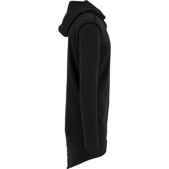 Urban Classics Long Slub Terry Open Edge Hoody, black L
