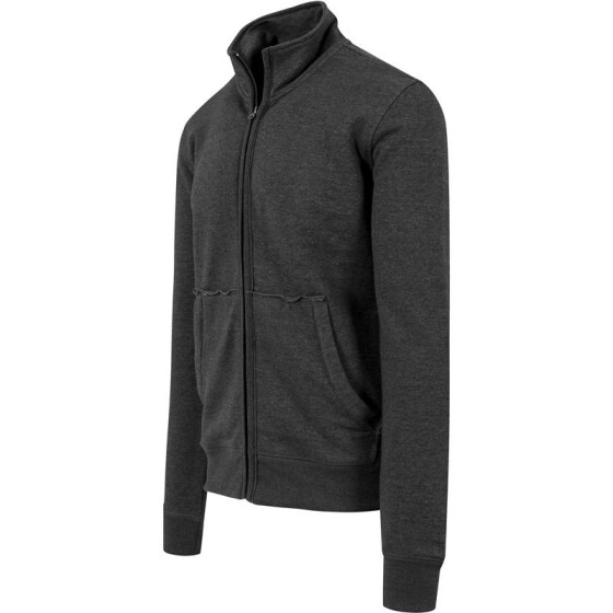 Urban Classics Loose Terry Zip Jacket, charcoal S