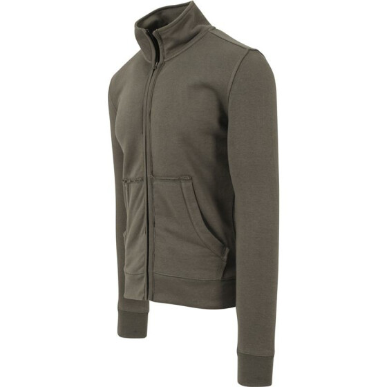Urban Classics Loose Terry Zip Jacket, olive S