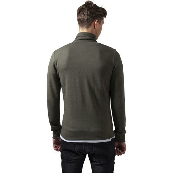 Urban Classics Loose Terry Zip Jacket, olive L