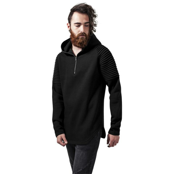 Urban Classics Pleat Sleeves Terry Hoody, black XL