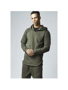 Urban Classics Pleat Sleeves Terry Hoody, olive M