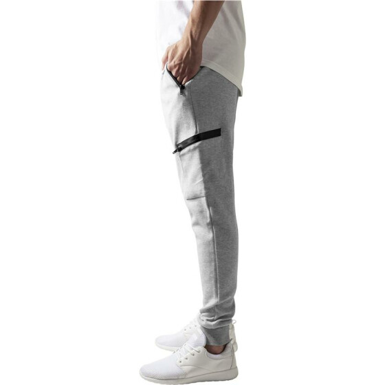 Urban Classics Athletic Interlock Sweatpants, grey M