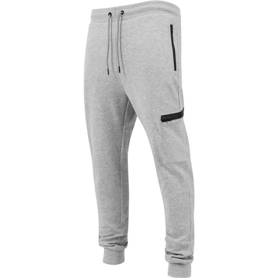 Urban Classics Athletic Interlock Sweatpants, grey XXL