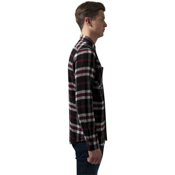 Urban Classics Checked Flanell Shirt 3, blk/wht/red XL