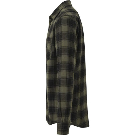 Urban Classics Checked Flanell Shirt 3, blk/olive M