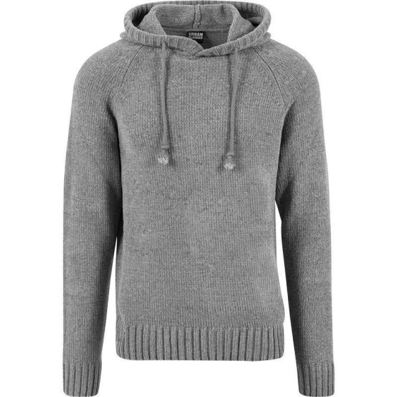 Urban Classics Chenille Hooded Sweater, grey L